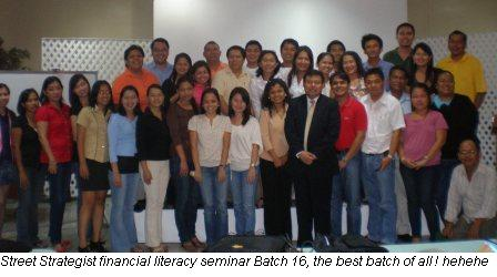 The Street Strategists Financial literacy seminar batch 16